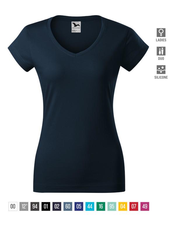 Fit V-neck T-shirt Ladies barvna