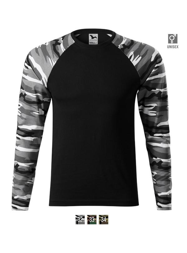 Camouflage LS T-shirt unisex barvna