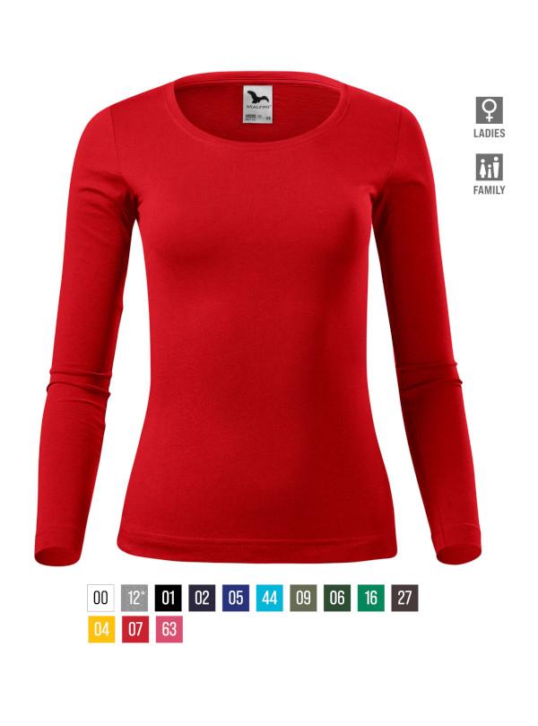 Fit-T LS T-shirt Ladies bela 3XL