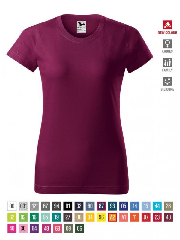 Basic T-shirt Ladies bela 3XL