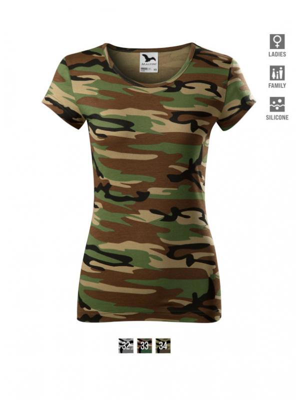 Camo Pure T-shirt Ladies barvna