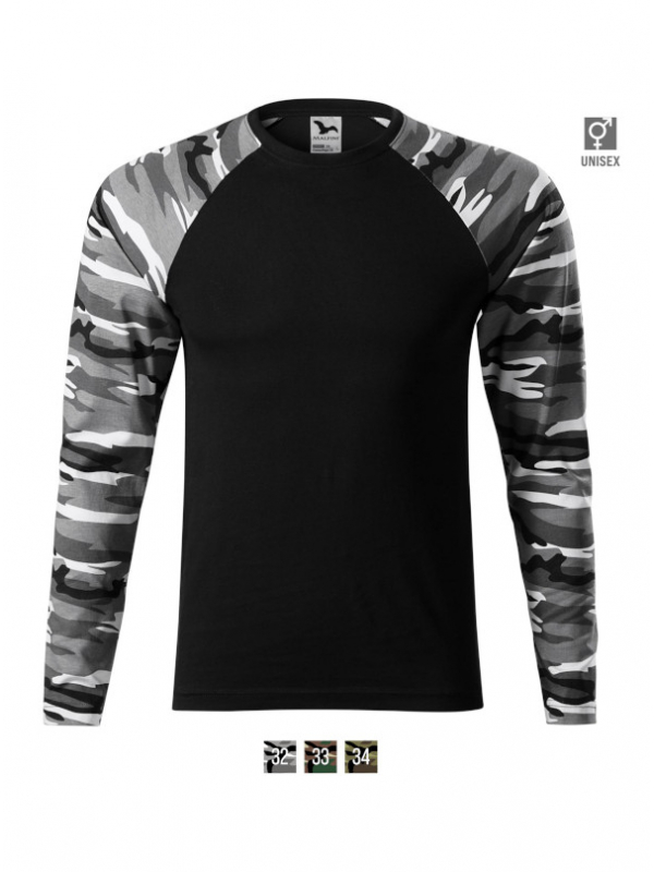 Camouflage LS T-shirt unisex barvna 3XL