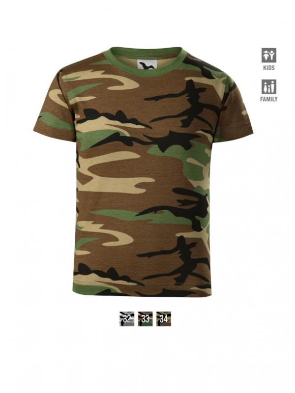 Camouflage T-shirt Kids barvna