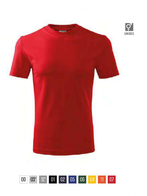Classic T-shirt unisex barvna 4XL
