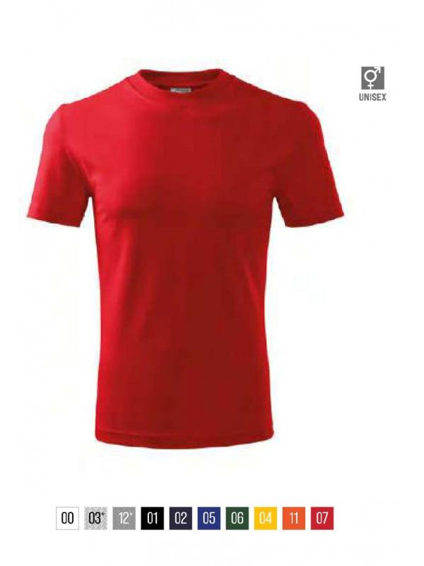 Classic T-shirt unisex - bela