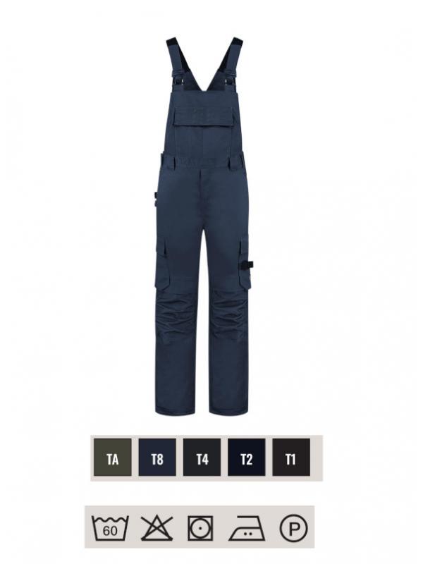 Bib & Brace Twill Cordura Work Bib Trousers unisex barvna
