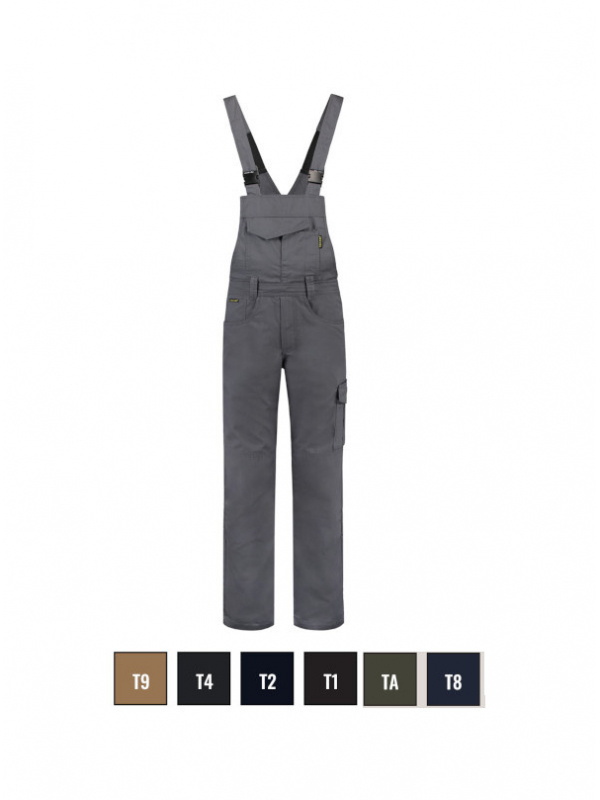 Dungaree Overall Industrial Work Bib Trousers unisex barvna