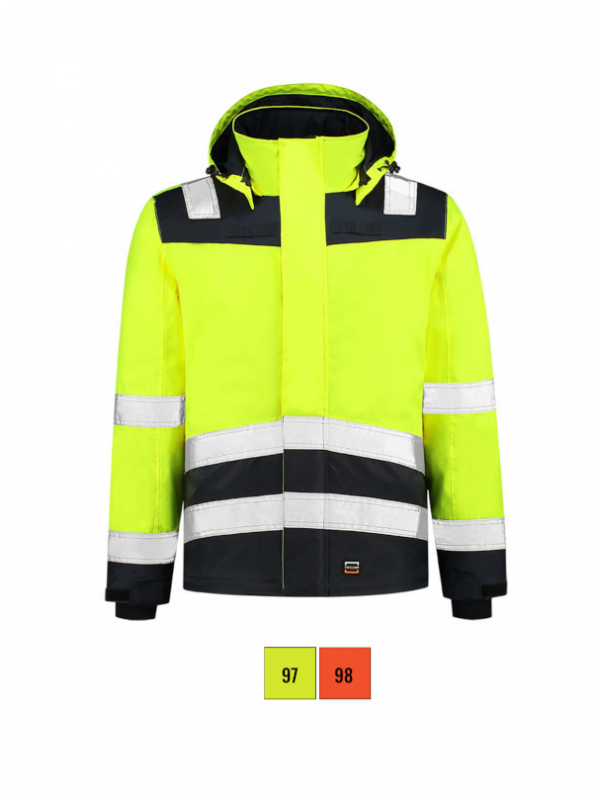 Midi Parka High Vis Bicolor Work Jacket unisex barvna 3XL