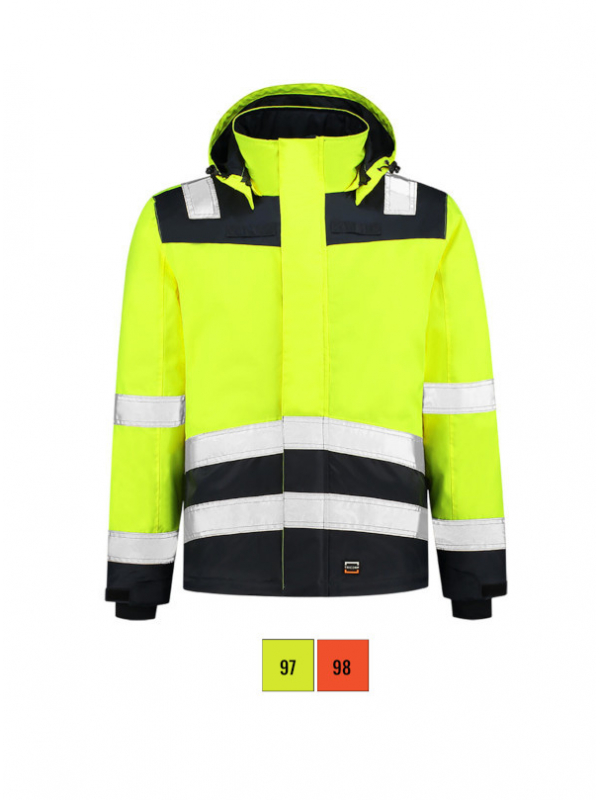 Midi Parka High Vis Bicolor Work Jacket unisex barvna 4XL