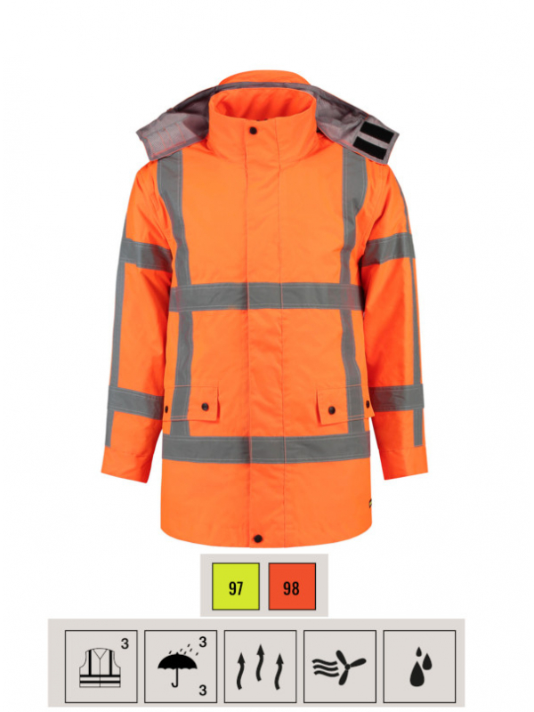 RWS Parka Work Jacket unisex barvna 3XL