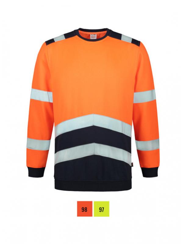 Sweater High Vis Bicolor Sweatshirt unisex barvna