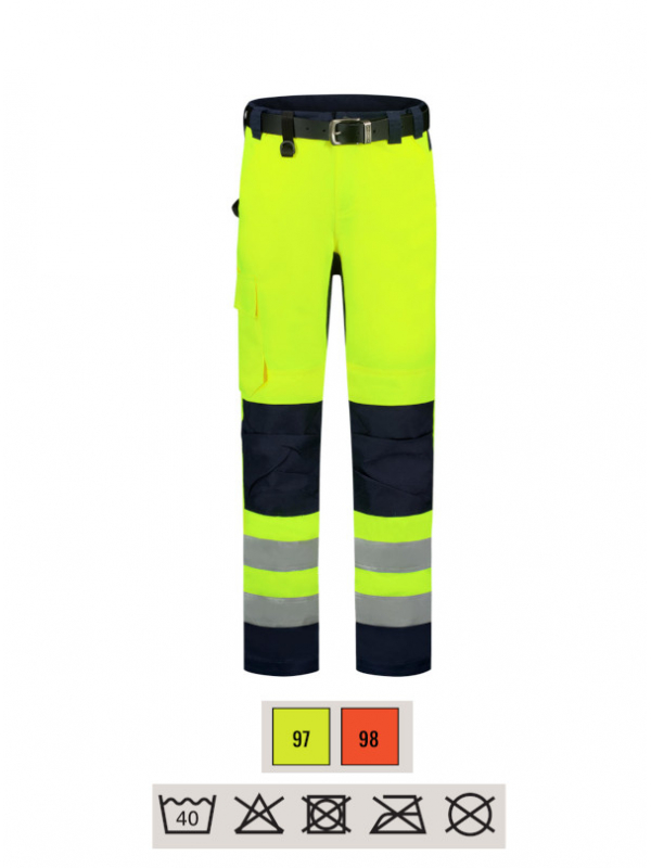 Work Trousers High Vis Bicolor Work Trousers unisex barvna