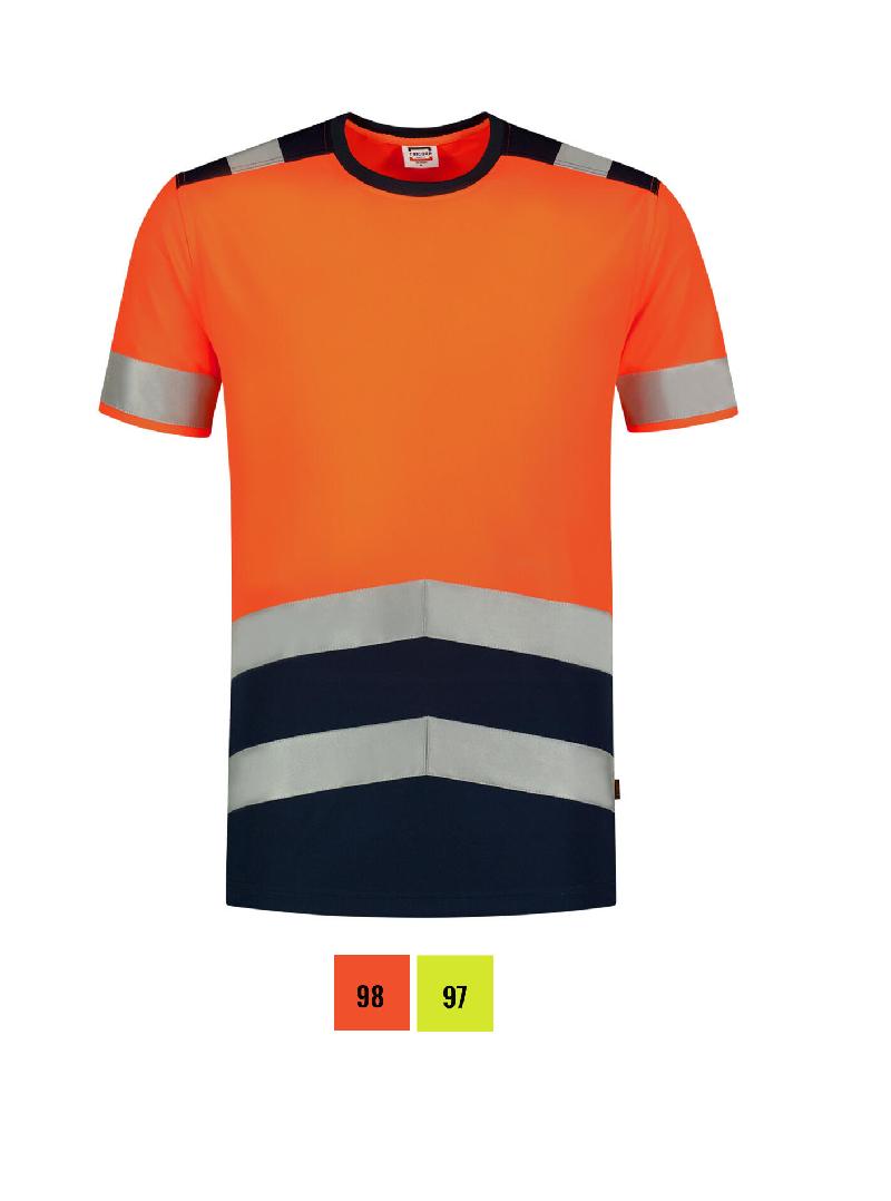 T-Shirt High Vis Bicolor T-shirt unisex barvna