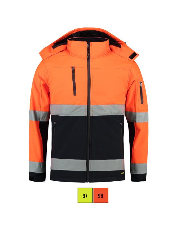 Bi-color EN ISO 20471 Softshell Softshell Jacket unisex barvna 4