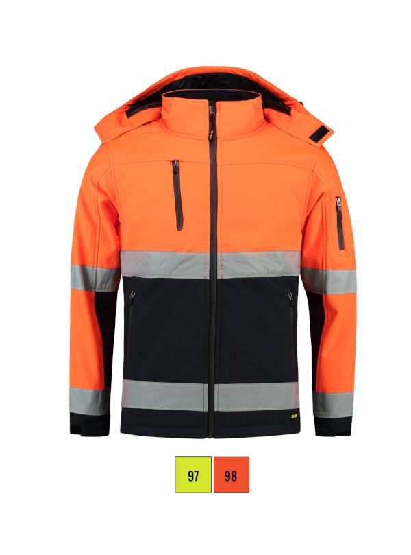 Bi-color EN ISO 20471 Softshell Softshell Jacket unisex barvna